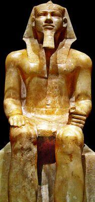 Frontalizm - posąg Chefrena, XXVI wiek p.n.e.